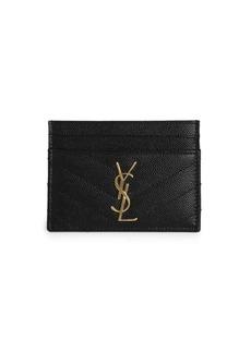 Saint Laurent Monogram Matelassé Leather Card Case