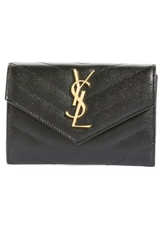 Saint Laurent 'Monogram' Quilted Leather French Wallet