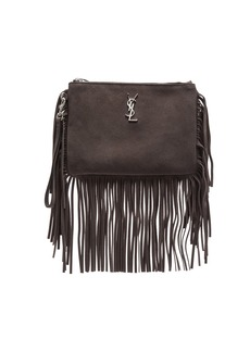 Yves Saint Laurent Saint Laurent Monogramme Fringe Pouch