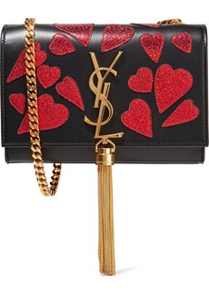 Yves Saint Laurent Saint Laurent Monogramme Kate small appliquéd leather shoulder bag