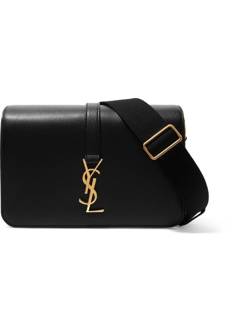 399234cf560f Saint Laurent Monogramme Sac Université textured-leather shoulder bag