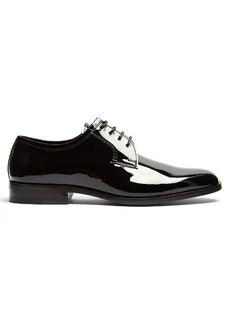 Saint Laurent Montaigne patent-leather derby shoes