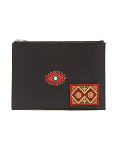 Yves Saint Laurent Saint Laurent Moroccan embroidered leather pouch