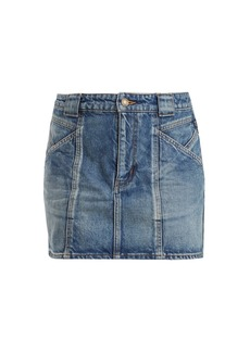 Yves Saint Laurent Saint Laurent Multi-seam denim skirt