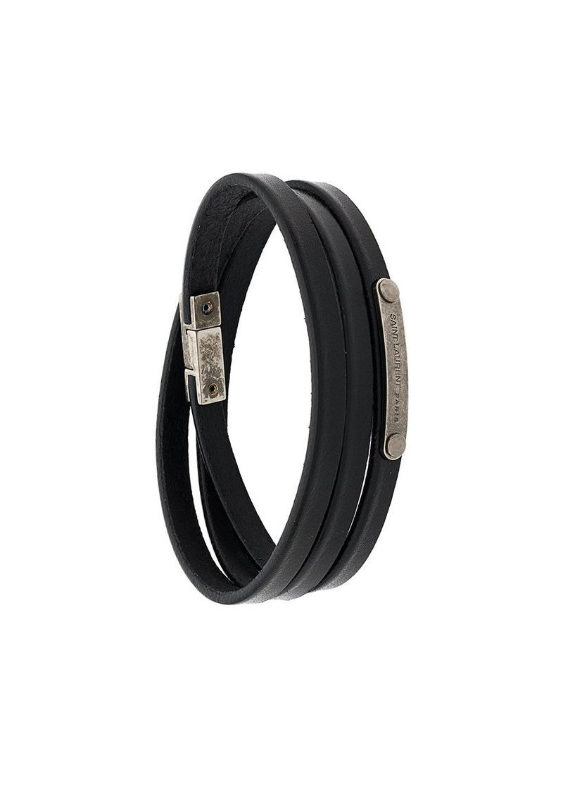 Saint Laurent multi-wrap ID bracelet