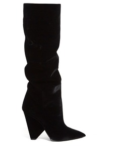 Yves Saint Laurent Saint Laurent Niki slouch velvet boots