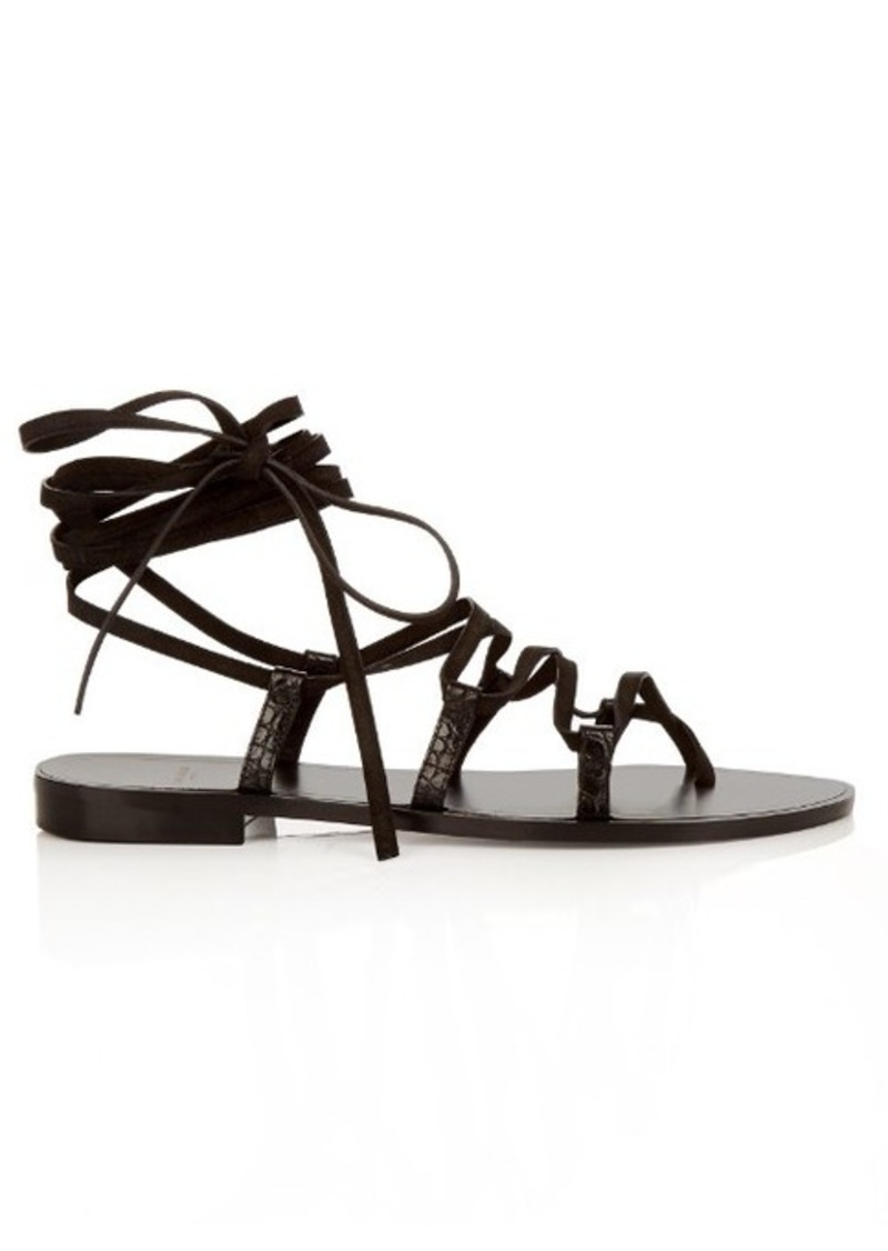 Yves Saint Laurent Saint Laurent Nu Pieds lace-up suede sandals