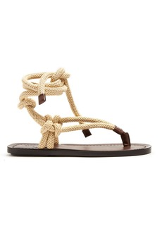 Yves Saint Laurent Saint Laurent Nu Pieds rope and leather sandals