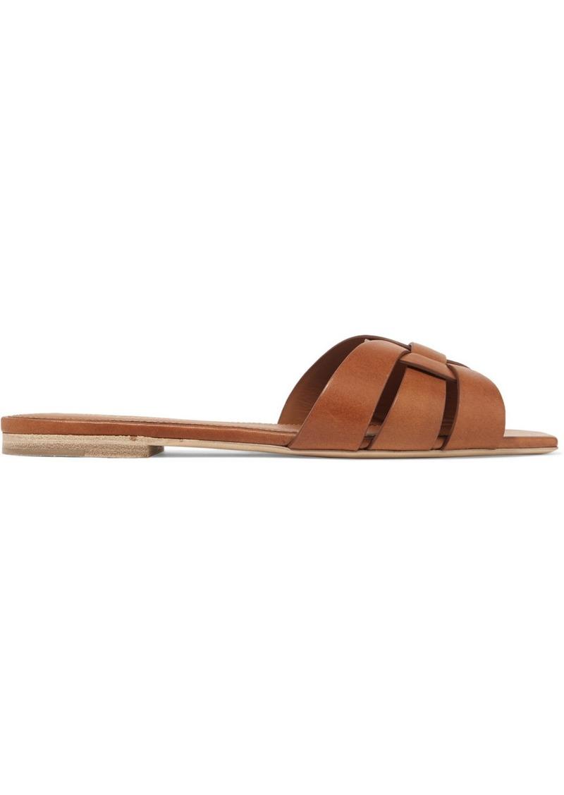 eca716e63ccb Saint Laurent Saint Laurent Nu Pieds woven leather slides