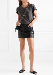 858c4b43d ... Saint Laurent Woven leather slides ...