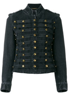 Yves Saint Laurent Saint Laurent Officer military denim jacket - Black