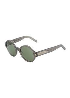 Yves Saint Laurent Saint Laurent Opaque Round Plastic Sunglasses