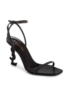 Yves Saint Laurent Saint Laurent Opyum YSL Studded Ankle Strap Sandal (Women)