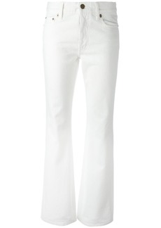 Yves Saint Laurent Saint Laurent original cropped flared jeans - White
