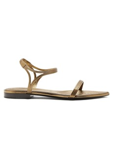 Yves Saint Laurent Saint Laurent Ourika & Talitha leather-trimmed sandals