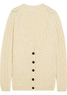 Yves Saint Laurent Saint Laurent Oversized chunky-knit wool cardigan