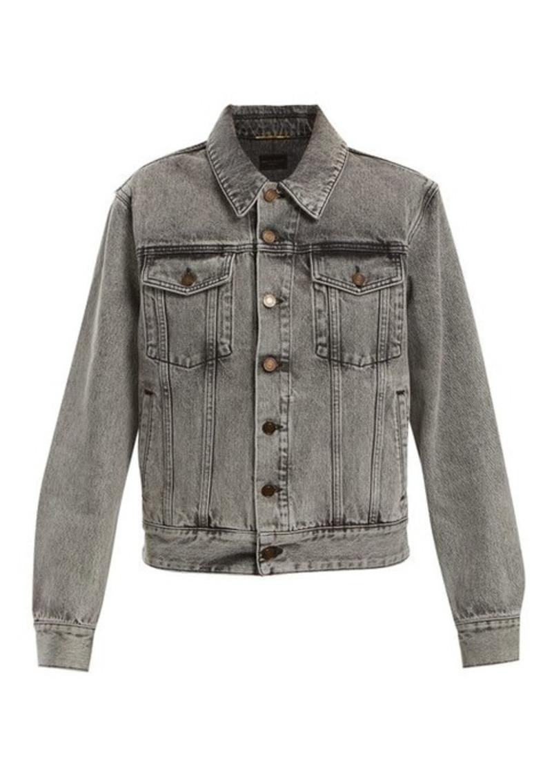 612310321a Saint Laurent Oversized denim jacket