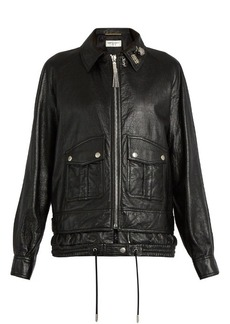 Saint Laurent Oversized leather jacket