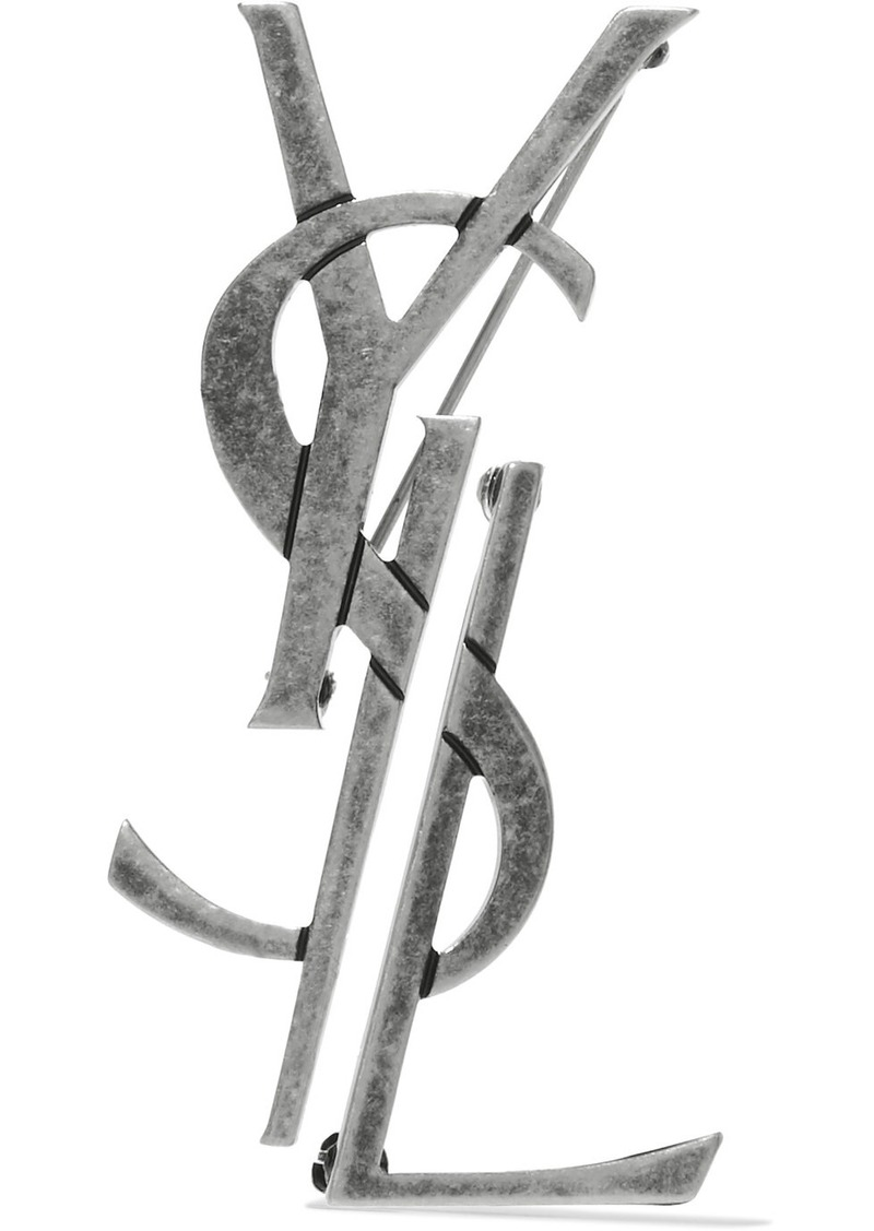 be812c1083e Saint Laurent Oxidized silver-tone brooch | Jewelry