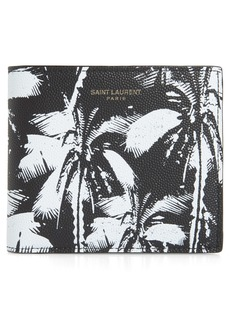 Yves Saint Laurent Saint Laurent Palm Leaf Leather Wallet