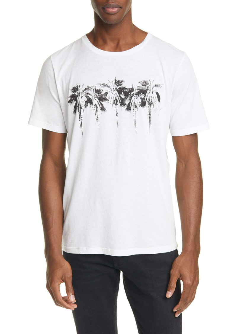 Yves Saint Laurent Saint Laurent Palm Tree Crewneck T-Shirt