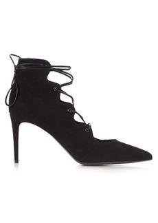 Yves Saint Laurent Saint Laurent Paris lace-up suede pumps