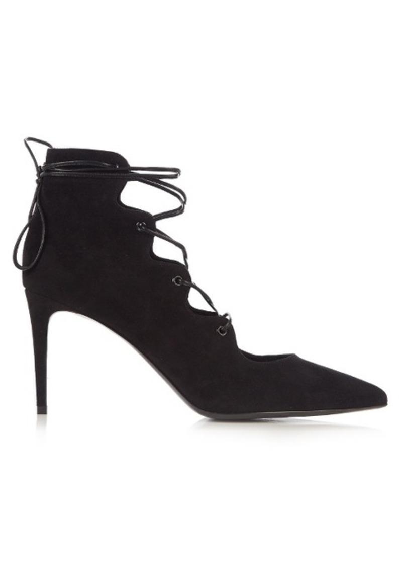 48b469160a1 Saint Laurent Saint Laurent Paris lace-up suede pumps   Shoes