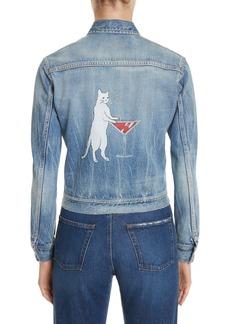 Yves Saint Laurent Saint Laurent Party Kitty Denim Jacket