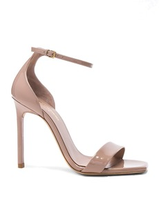 Saint Laurent Patent Amber Ankle Strap Heels