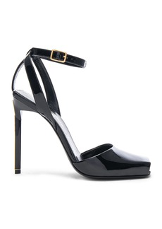 Yves Saint Laurent Saint Laurent Patent Leather Edie Heeled Sandals