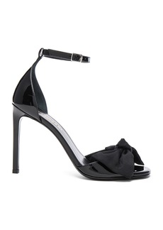 Yves Saint Laurent Saint Laurent Patent Leather Jane Bow Sandals