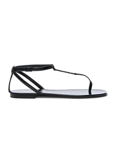 Saint Laurent Patent Leather Nu Pieds Sandals