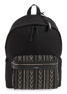 Yves Saint Laurent Saint Laurent Pattern City Backpack