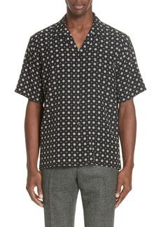 Yves Saint Laurent Saint Laurent Patterned Silk Camp Shirt