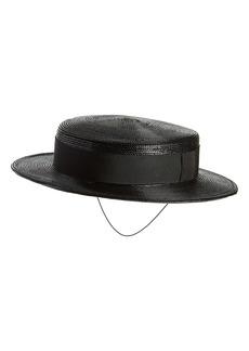 Saint Laurent Petite Boater Hat