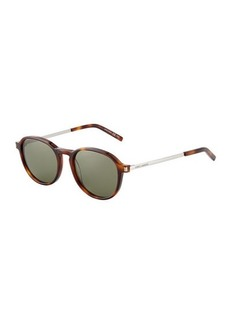 Yves Saint Laurent Saint Laurent Plastic/Metal Round Sunglasses