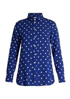 Saint Laurent Polka-dot print viscose crepe de Chine shirt