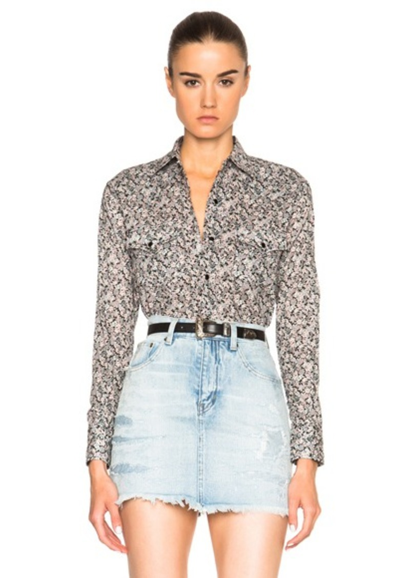 Saint Laurent Prairie Flower Western Shirt