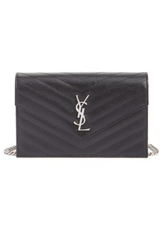 Saint Laurent Monogramme Calfskin Leather Wallet on a Chain