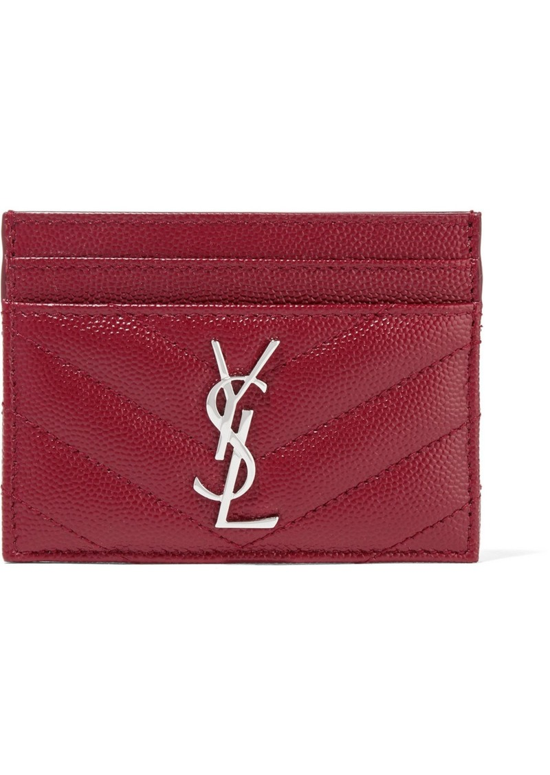 8d4693a2e312c Saint Laurent Quilted textured-leather cardholder