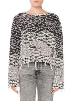 Saint Laurent Raw-Edge Pullover Sweater