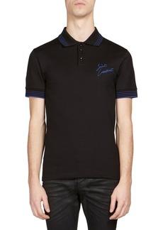 Yves Saint Laurent Regular-Fit Brand Logo-Print Polo