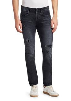 Yves Saint Laurent Rip & Repair Slim-Fit Jeans