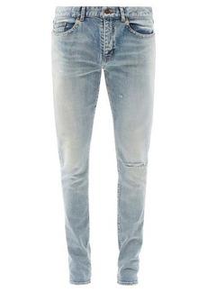 Yves Saint Laurent Saint Laurent Ripped mid-rise skinny-leg jeans