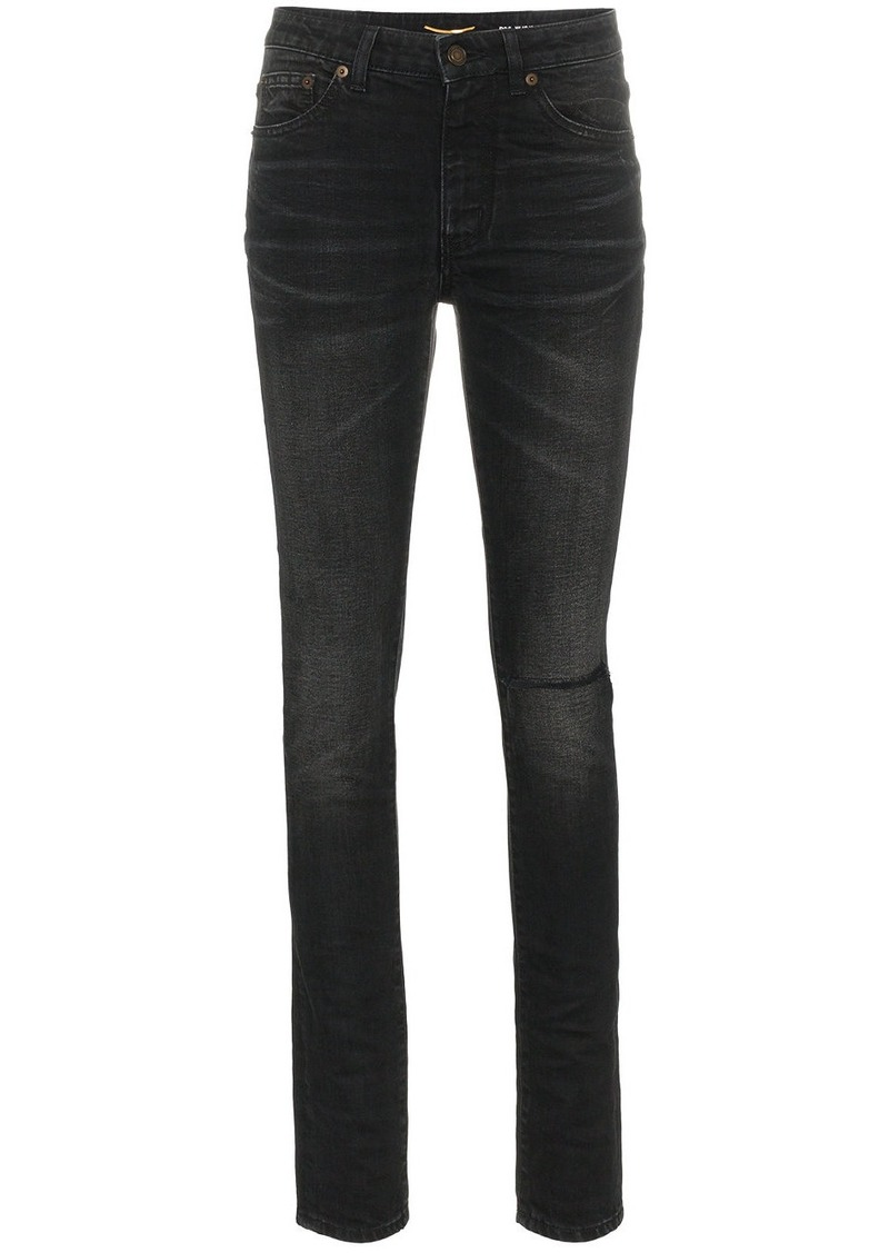 Saint Laurent ripped skinny jeans