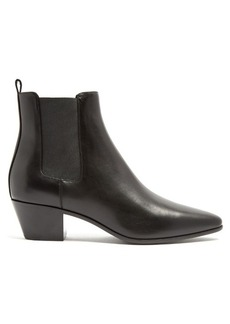 Saint Laurent Rock cuban-heel leather chelsea boots