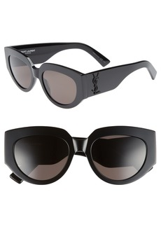 Saint Laurent Rope 54mm Cat Eye Sunglasses