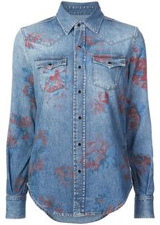 Yves Saint Laurent Saint Laurent rose print shirt - Blue