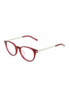 Yves Saint Laurent Saint Laurent Round Acetate/Metal Optical Glasses