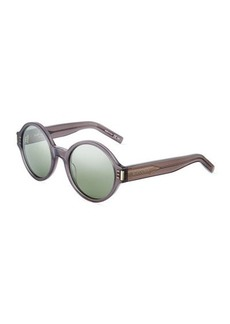 Yves Saint Laurent Saint Laurent Round Plastic Sunglasses